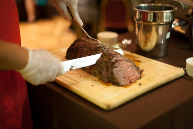 Hand sliced prime rib . . . the BEST.