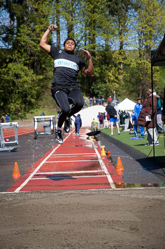 Male long jumper from Spanaway Lakes High School.
