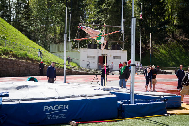 Female pole vaulter from Tumwater High School.