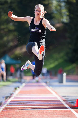 Female long jumper from Sequim HS.