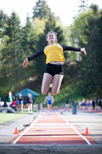 Female Long Jumper from Vashon Island.